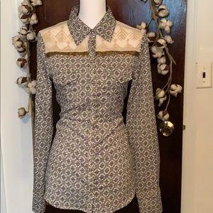 BKE Boutique button down blouse.